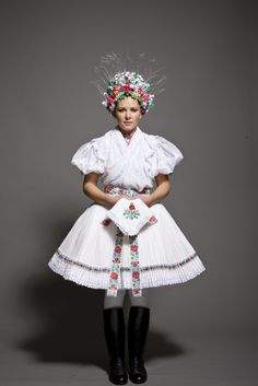 Beautiful Hungarian folk costume from Hollókő Hungarian Girls, Hungarian Embroidery, Folk Dance, Character Costumes, Folk Music, Budapest Hungary, Folk Costume, People Around The World, Traditional Dresses