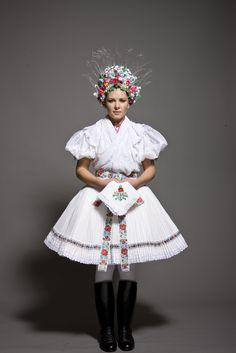 Beautiful Hungarian folk costume from Hollókő