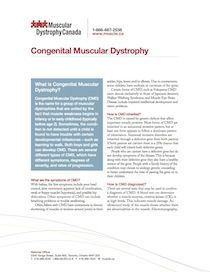 Download the Fact Sheet on Congenital Muscular Dystrophy
