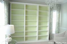 Billy Built-in Bookshelves - IKEA Hackers