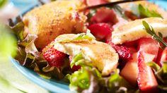 Meloni-halloumi-mansikkasalaatti - K-ruoka