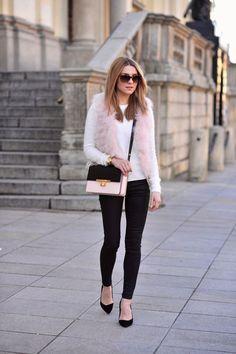 soft pink fur gilet