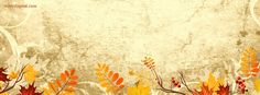 facebook cover Grunge Fall Leafs Scrapbook Style CoverLayout.com