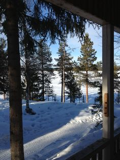 A view from our overnight cabin.