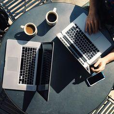 Coffee and creative talk / photo by Josiah Jones