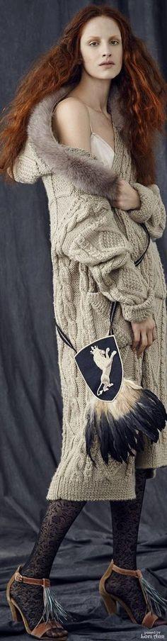 María Cielo: Sacos largos tejidos