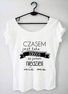 Time For Fashion Czasem / t-shirt biały Crop Tops, Tank Tops, Humor, Funny, T Shirt, Smile, Outfits, Clothes, Women