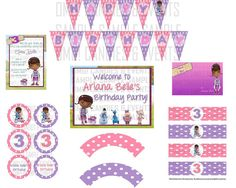 Doc McStuffins Birthday Party Package by omgcandiesandevents $19