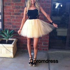 Prom dresses short, homecoming dress, 2016 cute tulle prom dress for teens