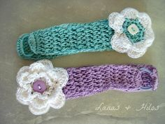 Paso a Paso: CINTAS  PARA BEBÉ           In Ravelry     Materials:    Cotton yarn (fine or fingerling #2), just a small amount   Crochet n...
