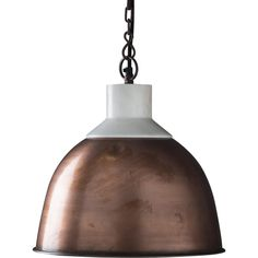 Dot & Bo Percy Pendant in Copper found on Polyvore featuring home, lighting, ceiling lights, copper ceiling lights, copper lamp and copper lighting