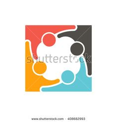People logo teamwork. Vector graphic design illustration