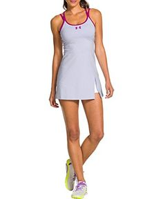Under Armour Womens UA Crisscross Tennis Dress Large LAVENDER ICE