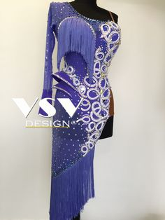Beautiful Ultraviolet latin dress by VSV Design, made with professionalism and tailored to the needs of our clients with attention to every detail.