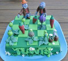 Plants Vs Zombies Cute Cakes Cookies &amp Cupcakes cakepins.com