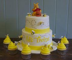 Gender Reveal Baby Shower cake &cupcakes