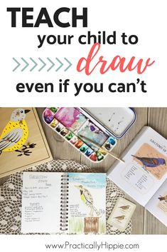 Teach your child to draw even if you have no artistic abilities! This proven method outlined by educational pioneer Charlotte Mason makes art enjoyable and achievable for any family. Click to read how! #artlessons #drawing #homeschool