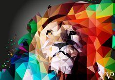 white lion polygon - Поиск в Google