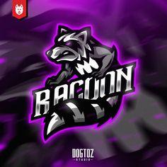 Mascot Design, Logo Design, Graphic Design, Sports Team Logos, Esports Logo, Racoon, Game Logo, Art Gallery, Dan