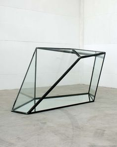"itscontemporary:  José Pedro Croft - ""Untitled""""Untitled"", Glass, mirror and iron sculpture, 180x220x450 cm2007"