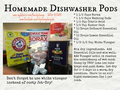 Homemade dishwasher pods with doTERRA oils