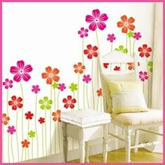 Removable Wall Sticker Decal-Flower Field http://enewmall.com/