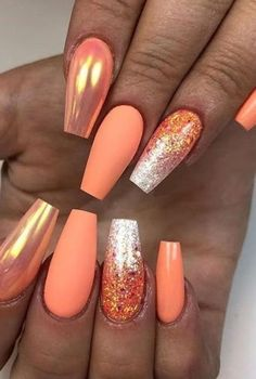 Designer Inspired, Press On Nails, Fake Nails, Glue On Nails, Designer Nails Art Summer Acrylic Nails, Best Acrylic Nails, Summer Nails, Fall Nails, Summer Nail Polish, Gel Polish, Cute Nails, Pretty Nails, My Nails