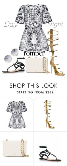 """day to night"" by mzcocogirl ❤ liked on Polyvore featuring Giuseppe Zanotti, Tory Burch, Valentino, DayToNight and romper"