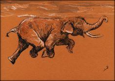"San Martin Arts  Crafts: ""Swimming elephant""."