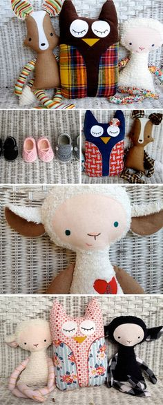 Baby stuff #sewing #stuffed #animals #diy #owl #sheep