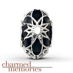 Charmed Memories Black Cathedral Charm Sterling Silver
