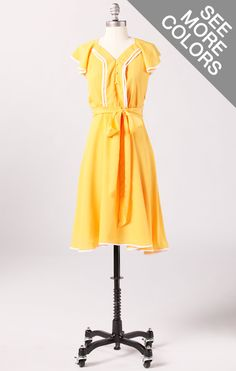 Principal Artist Dress...I do like this, but I don't know if I could get away with this bright of a yellow.