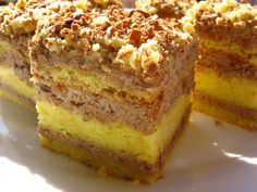 Recepty - Strana 8 z 100 - Vychytávkov Sweet Desserts, No Bake Desserts, Easy Desserts, Sweet Recipes, Delicious Desserts, Dessert Recipes, Hungarian Desserts, Hungarian Recipes, Pie Cake
