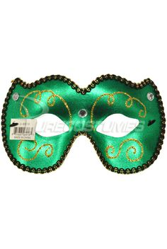 madi gras mask | Mardi Gras Eye Mask (Green) - Pure Costumes