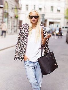 How to wear leopard print in the summer. via @WhoWhatWear