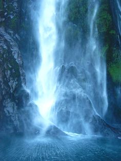 """""""Milford Falls, New Zealand,"""" photograph, by photographer Sylvia Valentine"""