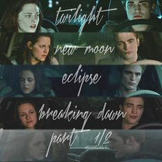 In the car... wow so many changes throughout the saga