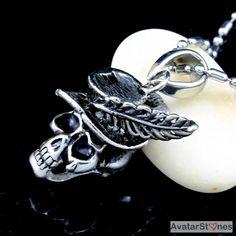 Men's Stainless Steel Skull Hat Pendant Necklace Chain P3V22|eBay - $76nok (12)