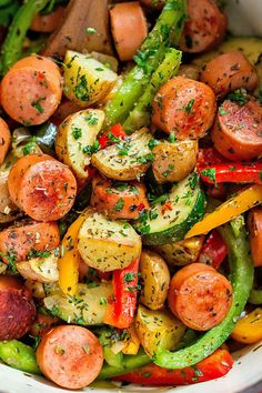 One Pot Sausage and Vegetables Recipe — Eatwell101