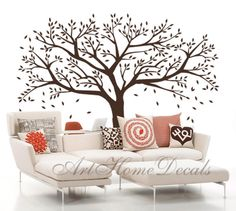 Tree decal wall sticker, family tree, nature decal - T46