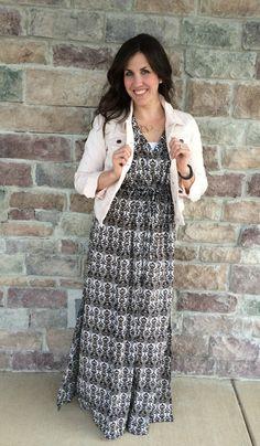 maxi dress, pink den