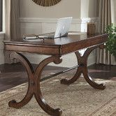 Brookview Writing Desk in Rustic Cherry Finish by Liberty Furniture - Office Desk Set, Home Office Desks, Home Office Furniture, Office Decor, Office Ideas, Small Office, Office Nook, Office Table, Desk With Keyboard Tray
