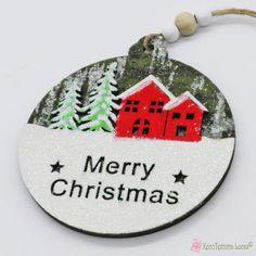 Ξύλινο χριστουγεννιάτικο στολίδι μπάλα με σπιτάκια Merry Christmas Wooden Products, Merry Christmas, Christmas Ornaments, Decoration, Holiday Decor, Home Decor, Merry Little Christmas, Decor, Decoration Home
