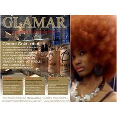 DONT RUIN YOUR PRICELESS HAIR!!!!! GLAMAR GOLD LABEL HAIRSTYLING & FINISHING PRODUCTS BY GERALD LAMAR PERFORMS EXCEPTIONALLY ABOVE AVERAGE, PREVENTS HAIR FUNGAL DRY-ROT AND PROVIDES THE HIGHEST LEVEL OF HAIRGLAM PROTECTION PERIOD.
