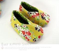 no 123 Tabi Kimono-Style Baby Booties Sewing Pattern PDF. $4.50, via Etsy.