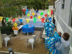 Birthday carnival setup