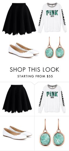"""Pink"" by maddixneal on Polyvore featuring Chicwish, Victoria's Secret, Chloé and Monica Vinader"
