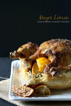 Meyer Lemon Mayonnaise Roasted Chicken ♥ Nutmeg Nanny