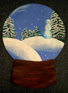 An even better example of how to incorporate snowmen into art class!