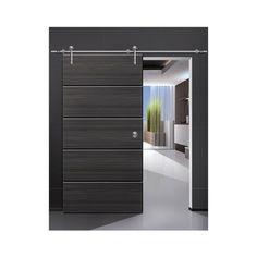 Modern barn door hardware for wood door - modern - interior doors -... ❤ liked on Polyvore